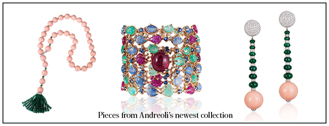 Peices from Andreoili's newest collection