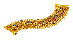Ara Collection Chainmail and Rough Diamond Gold Bracelet