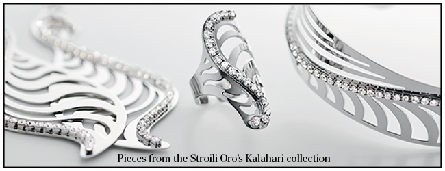 Peices from the Stroili Oro's Kalahari collection
