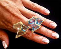 Design (hand with rings)